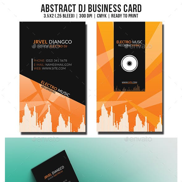 Abstract DJ Business Card