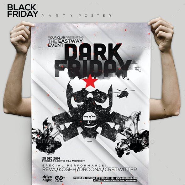 Black Friday Party Flyer/Poster