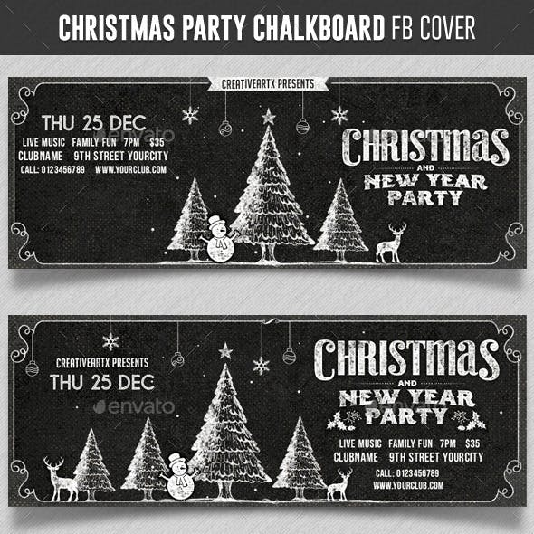 Christmas Party Chalkboard FB cover