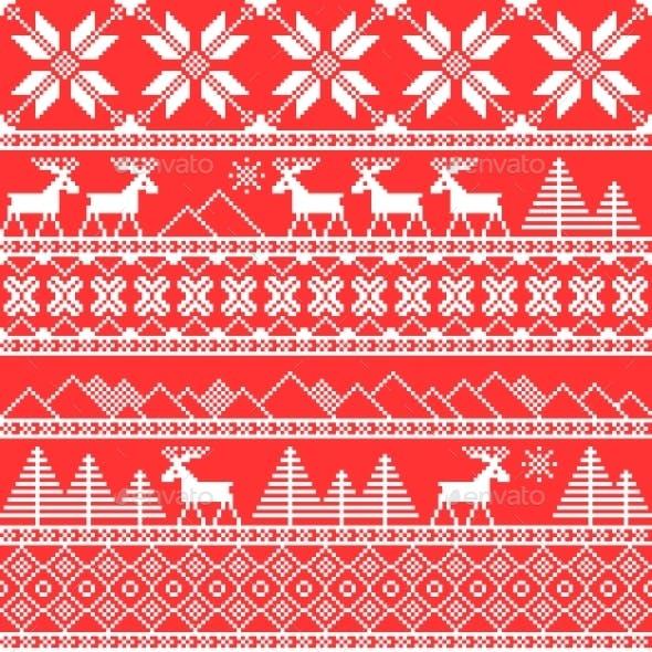 Traditional Christmas Ornamental Pattern