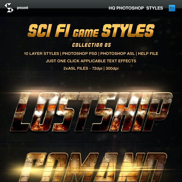 Sci-fi Game Styles - Collection 5