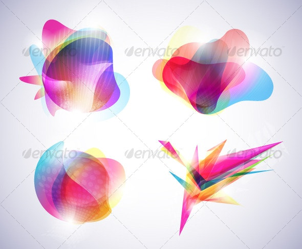 Abstract colorful banners - Backgrounds Decorative