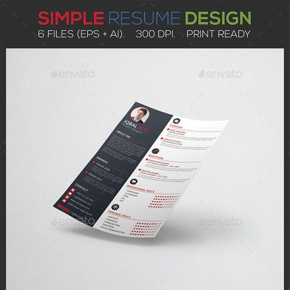 Simple Resume Stationery and Design Templates from GraphicRiver (Page 5)