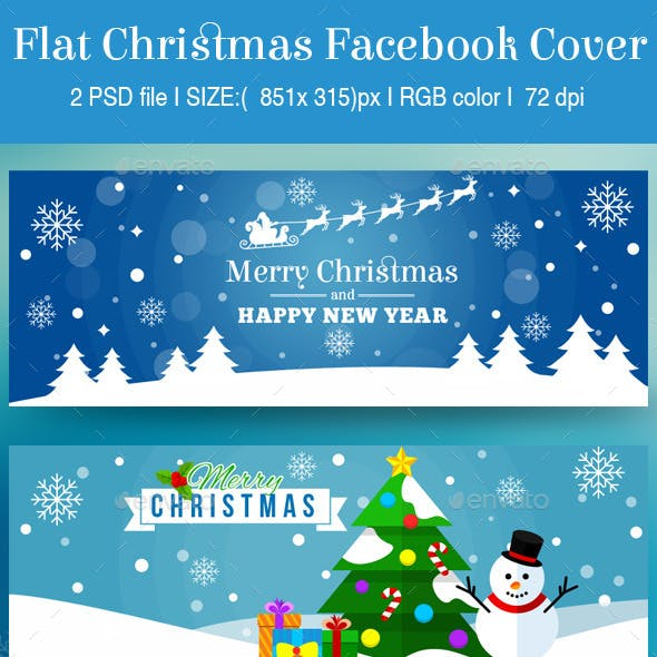 Flat Christmas Facebook Cover