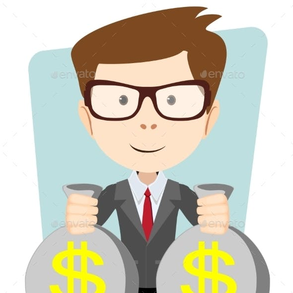 Businessman or Banker with Money
