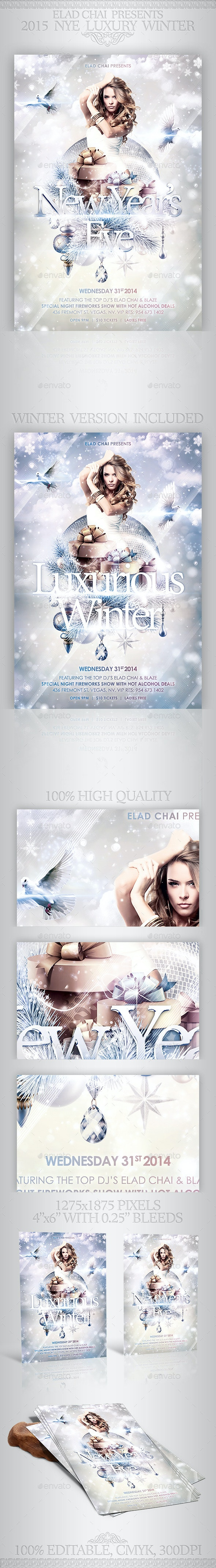 2015 NYE Luxury Winter Flyer Template - Holidays Events