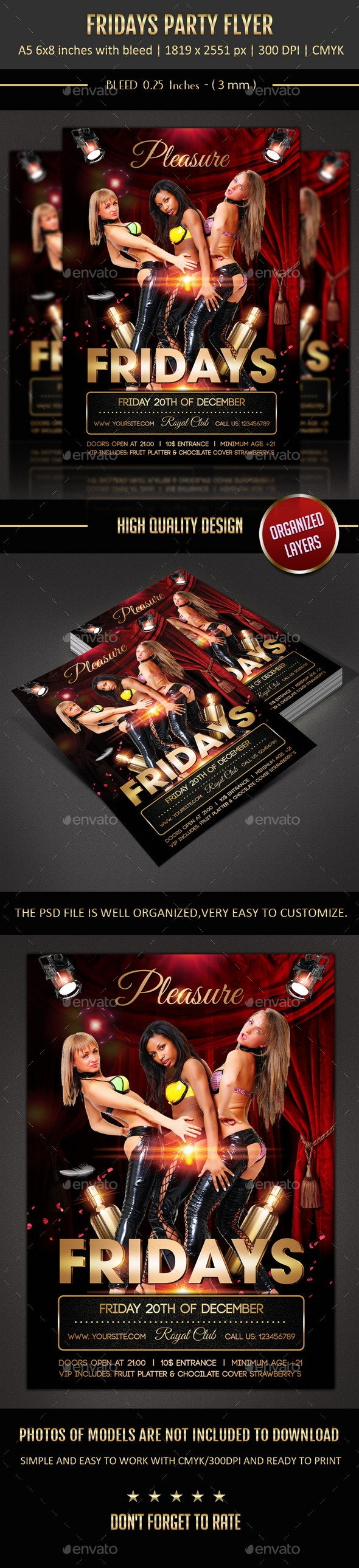 Friday Party Flyer - Events Flyers