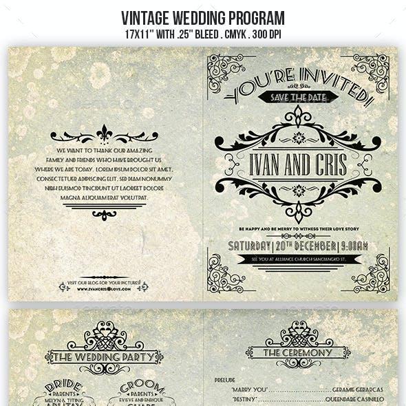 Vintage Wedding Brochure