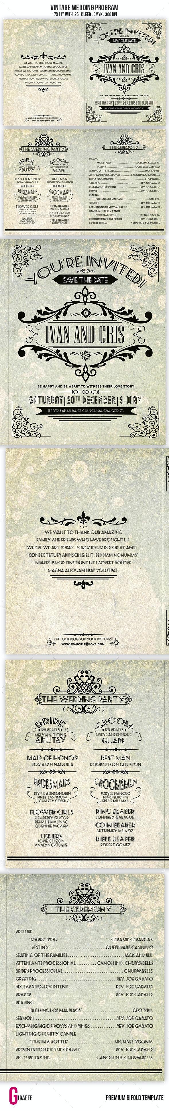 Vintage Wedding Brochure - Informational Brochures