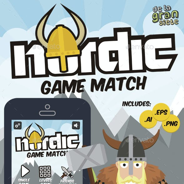 Nordic Vikings Match 3 Game Style Assets