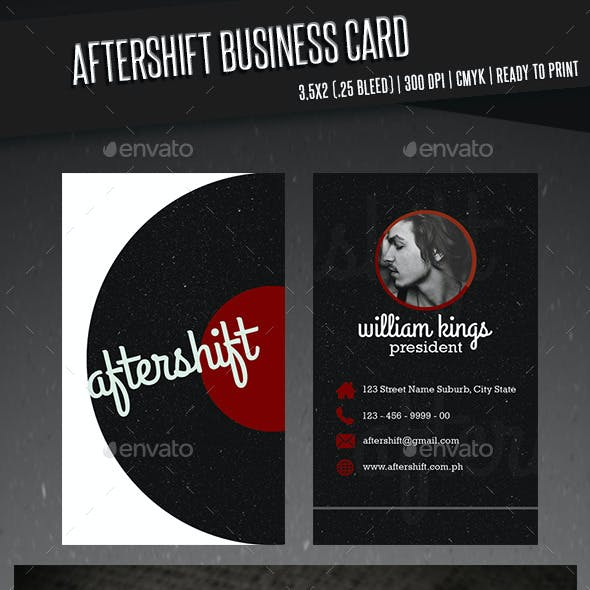 Aftershift Business Card
