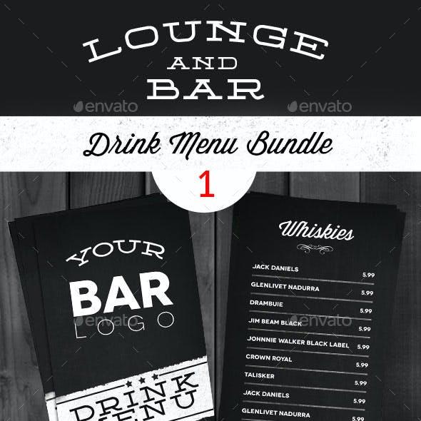 Lounge Bar Drink Menu Bundle