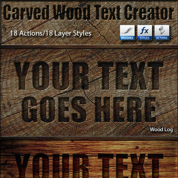 Carved Wood Text Creator