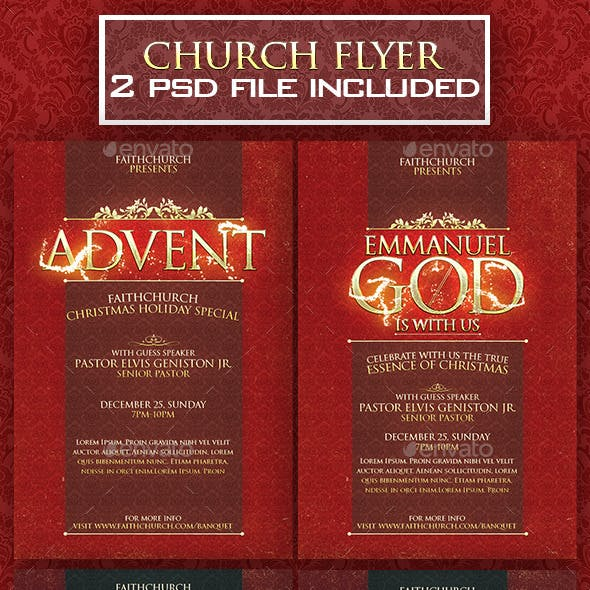 2 Church Christmas Flyer