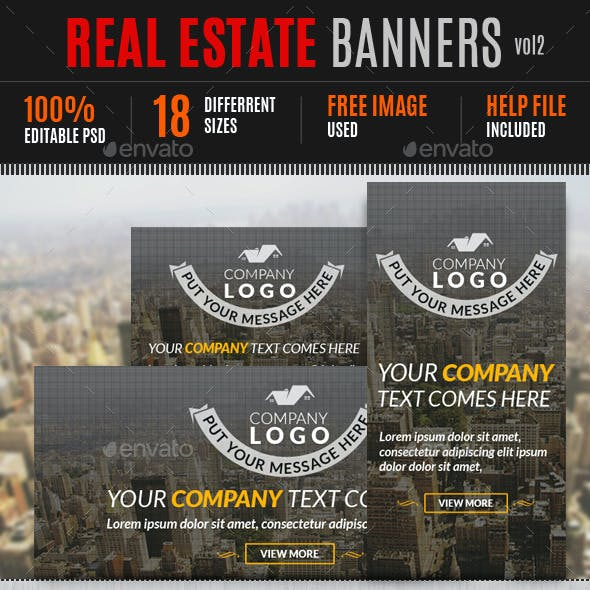 Real Estate Banners vol2