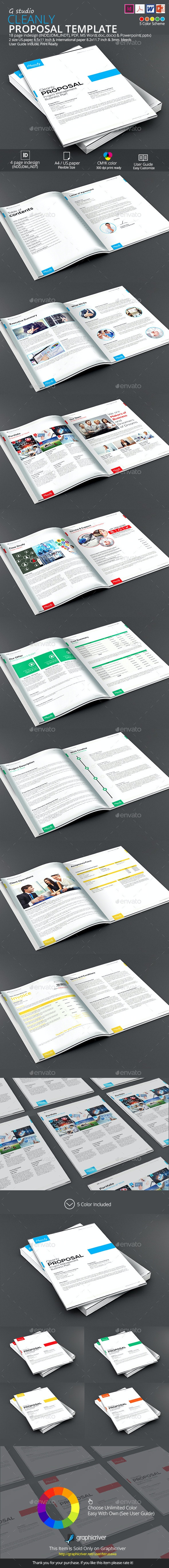 Cleanly Proposal Template - Proposals & Invoices Stationery