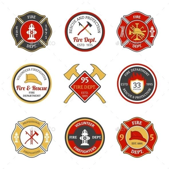 Fire Department Emblems - Miscellaneous Vectors
