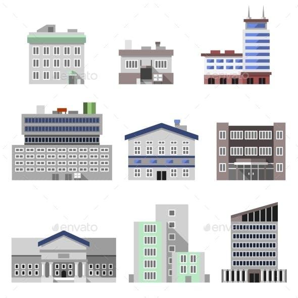 Office Buildings Flat