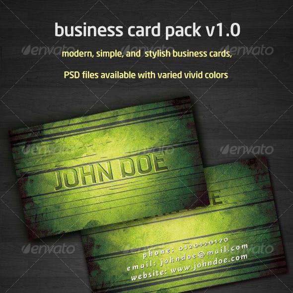 grunge business card pack v1.0