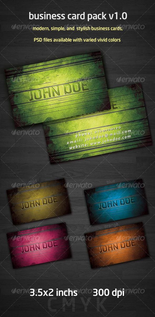 grunge business card pack v1.0 - Grunge Business Cards