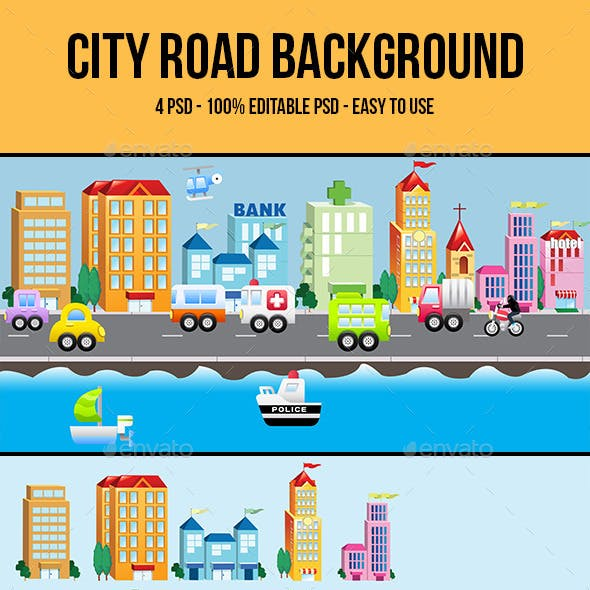 City Road Background 01