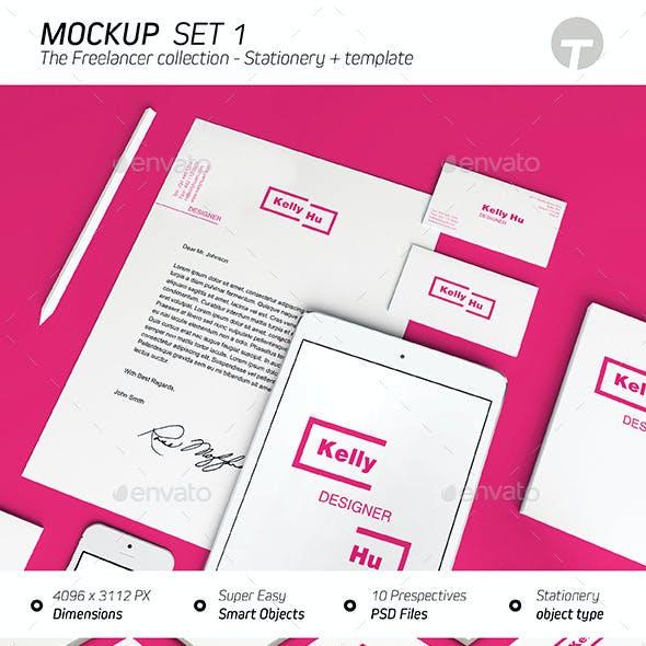 Stationery Mockup (Freelancer Collection) - Set 1