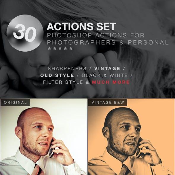 Vol.1 - 30 Actions Set