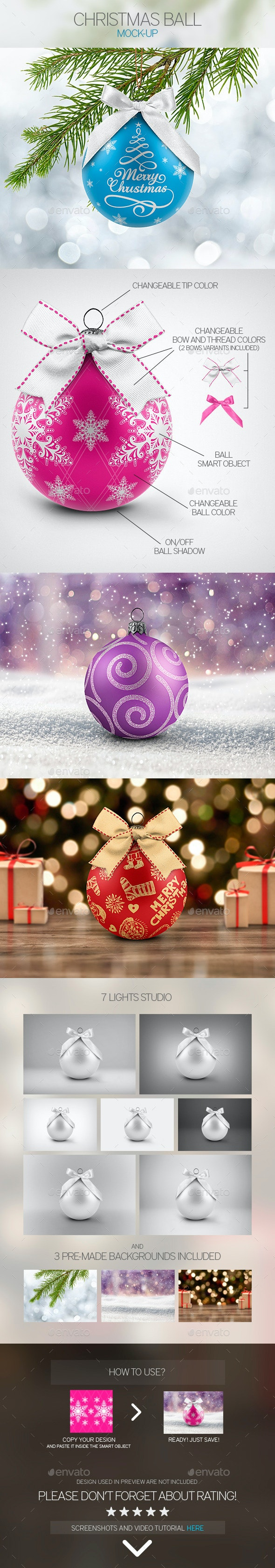 Christmas Ball Mock-Up - Miscellaneous Print