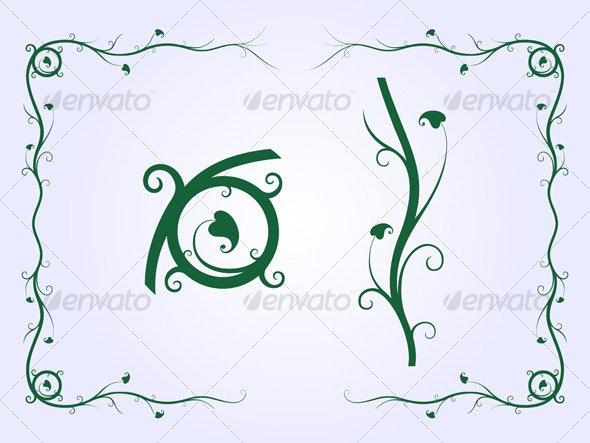 Plant Frame - Borders Decorative