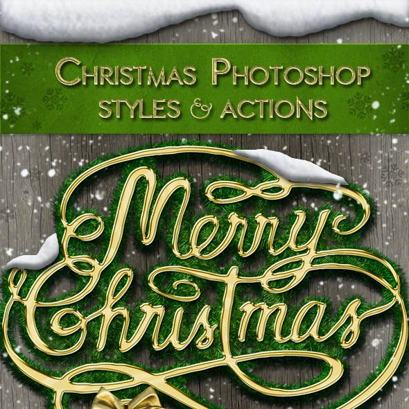 Christmas Styles Photoshop Creation Kit