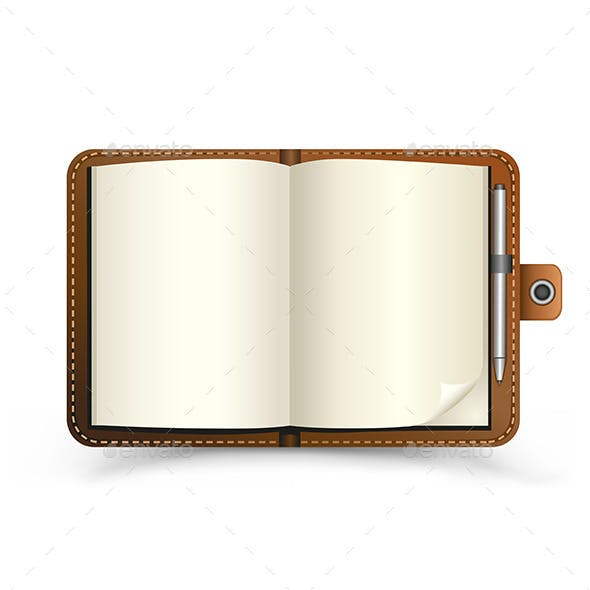 Open Brown Notebook