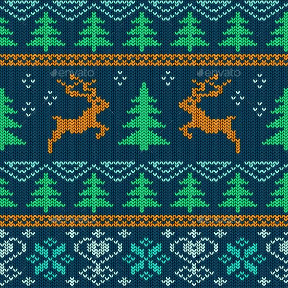 Scandinavian Knitted Seamless Pattern