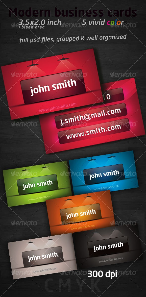 Modern business cards pack - Creative Business Cards