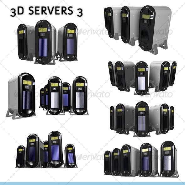 3D Servers - pack 3