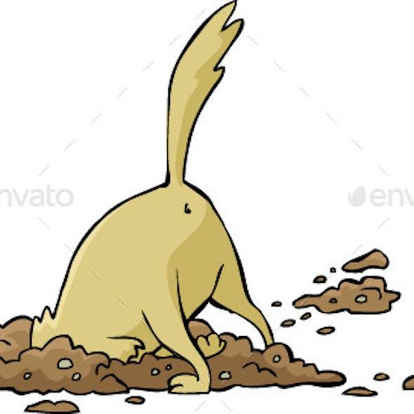 Dog Digs a Hole