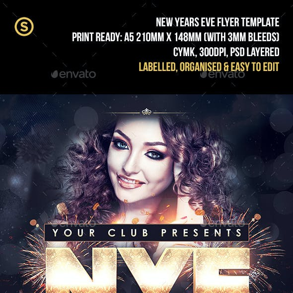 NYE New Years Eve - Party Flyer
