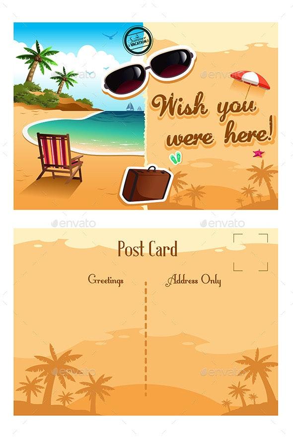 Travel Postcard - Travel Conceptual