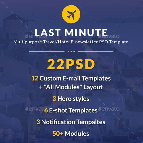 Last Minute Multipurpose Hotel/Travel E-Newsletter