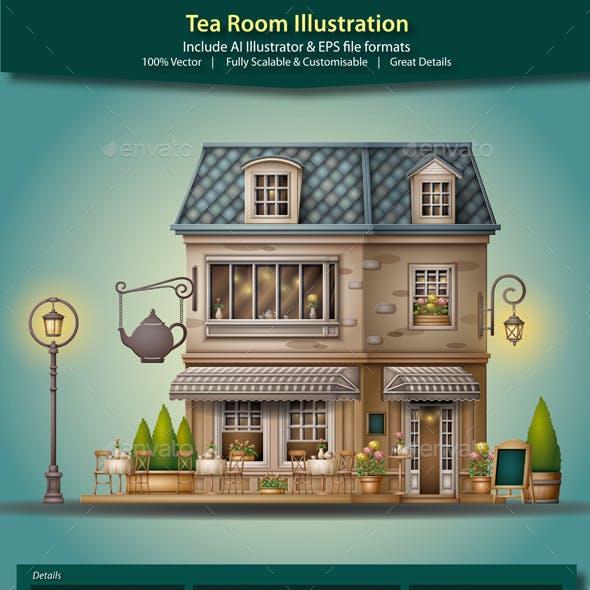 Tea Room Illustration