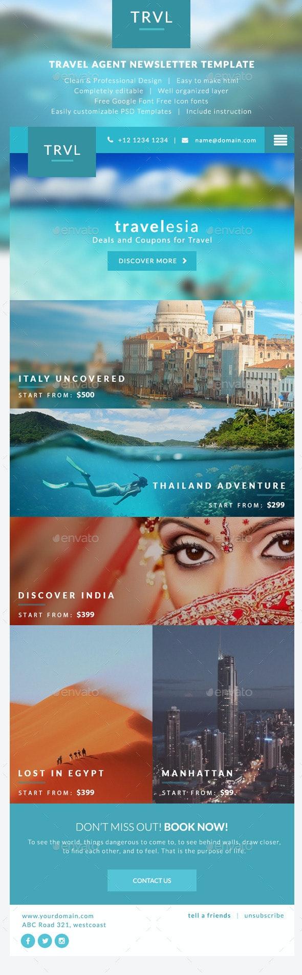 Travel Agent Newsletter Templates - Travelesia
