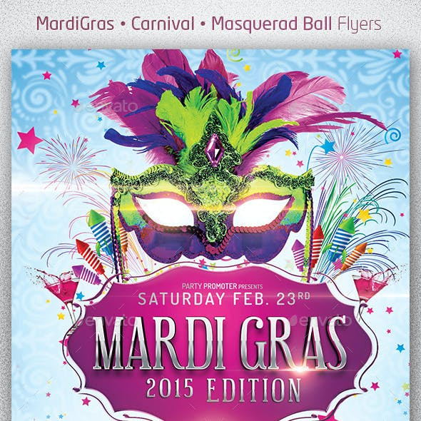 Mardi Gras 2015 The Poster Template