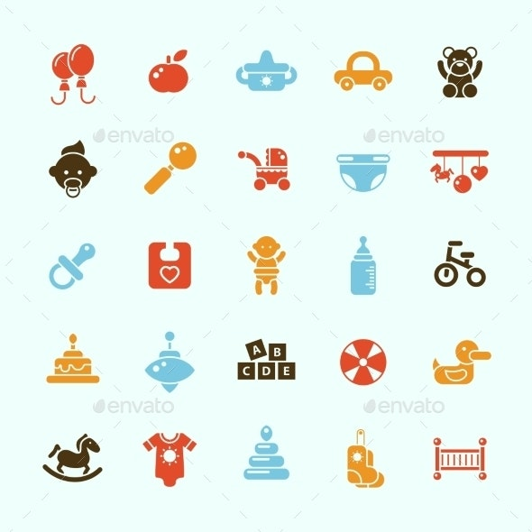 Baby Icons - Abstract Conceptual