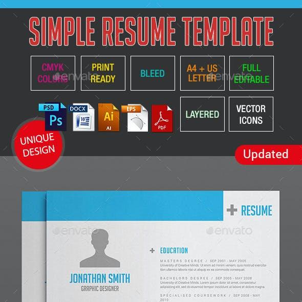 Simple Resume Template 10