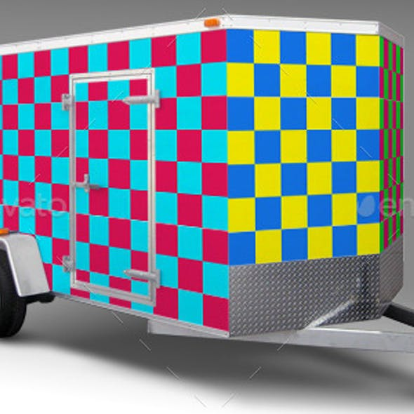 10 Foot Enclosed Trailer Wrap Mock-up