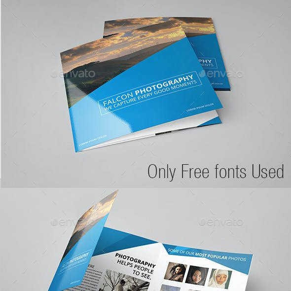 Modern Photography Square Trifold