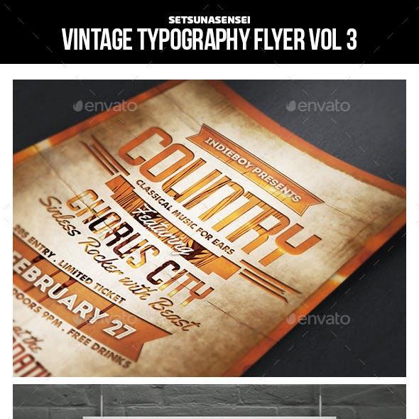 Vintage Typography Flyer Vol. 3