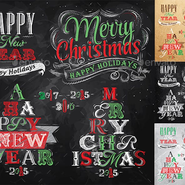 Merry Christmas and New Year collection