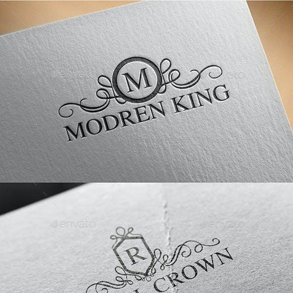 Vintage Crown Logo Design Set