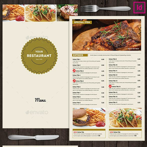 Restaurant Food Menu Versatile
