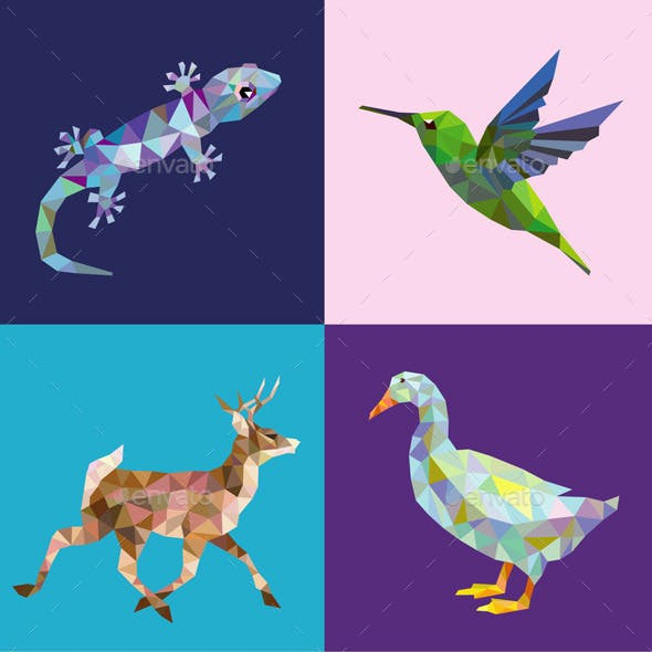 10 Low Poly Animal Series 2